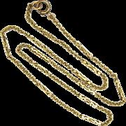 "9K Decorative Link Chain Necklace -19"" - 4.8 grams"