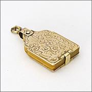 Victorian 9K Gold Aide Mémoire Charm or Pendant