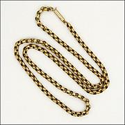 Victorian 9k Gold Belcher Chain Necklace