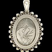 Victorian Sterling Silver Aesthetic Locket - English Hallmarks