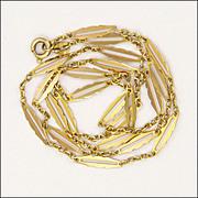 """SALE PENDING 8K Gold Fine Decorative Chain Necklace -20¼"""" - 4.1 grams"""