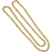 """English Antique 9K Gold Chain Necklace  - 17½"""" - 13.7 grams"""