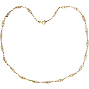 """French 18K Rose Gold Filled Necklace - ORIA - 19½"""""""