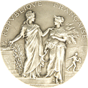 SOLD French 1890-1900 Silver Science and Agriculture Medal - Alphée Dubois