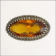 CHARLES HORNER Antique Sterling Silver Paste Pin - Hallmarked 1900