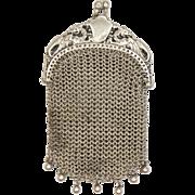 French Art Nouveau Silver Griffin Purse