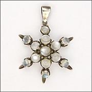 Moonstone on Silver Star Pendant