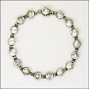 European Arts and Crafts Silver and Baroque Pearl Bracelet