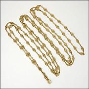 French Circa 1900 18K Gold Filled Guard Chain - FIX