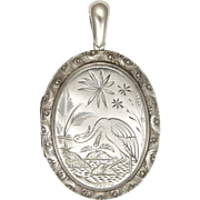 Victorian Sterling Silver Aesthetic Period Locket