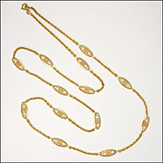 French 18K Gold Filled Opera Length Necklace - MURAT