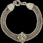 """Victorian Silver Albertina Bracelet  - 7½"""" - 15.6 grams"""