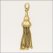 Victorian 14K Gold Tassel Charm