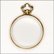 9k Gold Glass Locket - Glasgow 1913