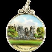 English Sterling Silver Enamel Sherborne Castle Charm