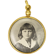 French Circa 1900 Gold Filled Photo Locket - ORIA