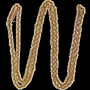 "English Edwardian 9K Gold Chain - 15¾"" -2.5 grams"