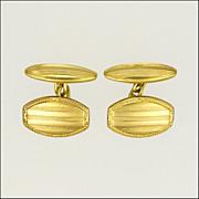 French Circa 1910 Gold Filled Cufflinks - ORIA