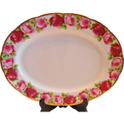 "Royal Albert Old English Rose 13"" Platter"