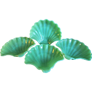 Fire King Jadite Shell Shaped Nut/Candy Dish