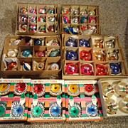 REDUCED Vintage Mercury Glass Christmas Tree Ornaments