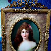 REDUCED Hutschenreuther KPM Handpainted Porcelain Plaque Portrait