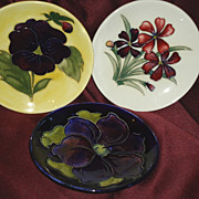 REDUCED Moorcroft Small Plates Clematis & Spring Flowers