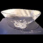 "SOLD Steuben Crystal Trillium Bowl - Large 10"" Designed by Donald Pollard  Vintage1958"