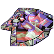 "Emilio Pucci - Silk Scarf - Made in Italy  22-1/2"" Square"
