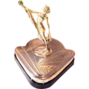Art Deco Vanity - Weidlich Brothers - Female Figural Beauty & Powder Box - Silver-plated - ...