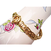 "SOLD 18 kt Yellow Gold Byzantine Link Bracelet - 7-1/2"" Long - 15.4 Grams ..."