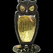 Monumental Signed Goberg Owl Gong, Ca. 1910