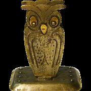 SALE Goberg Hand Hammered Jugendstil Owl Match Box Holder, Germany