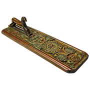 SALE Scandinavian Painted Carved Mangle Board w/ Horse Handle, 19th Century