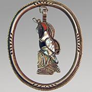 Silver Inlaid Quail Pendant & Necklace