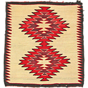 SALE Red Mesa Navajo Weaving, Ca. 1940-50