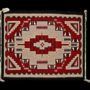 SALE Navajo (Dineh) Weaving or Rug, Ganado Red Design
