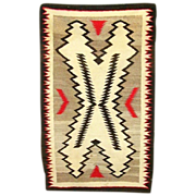 SALE Arts and Crafts Graphic Regional Navajo Rug, 1930's