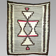 SALE Regional Navajo Weaving / Rug, 1910's, Wonderful Graphics