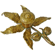 SALE Cast Bronze Buckeye Inkwell Ohio Society of New York , Dated 1913, Williams Foundry