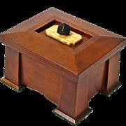 SALE Mission Style Quartersawn Cherry Dresser Jewelry Box with Birds-eye / Ebony Lid