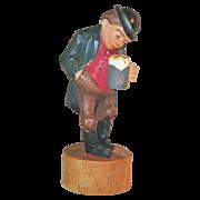 SALE Carved Tipsy Beer Drinker,  Anri Carving