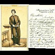 Civil War Letter, Battle of  Antietam, 7th Regiment, Pennsylvania Militia