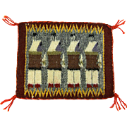 SOLD Hand Woven Navajo Yeibechai  Weaving Tapestry, Ca. 1970's