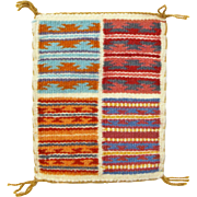 Hand Woven Navajo 4-in-1 Wide Ruins Weaving Tapestry, Ca. 1970's