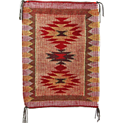 SALE Raised Outline or Twill Navajo Weaving, Rug, Hand Woven