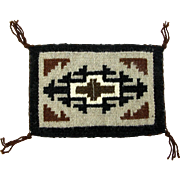 Hand Woven Classic Two Grey Hills Navajo Weaving, Tapestry