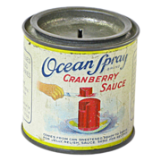 Ocean Spray Cranberries Tin Can Bank, Ca. 1930