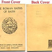 1940, Roman Baths, Bath, England, Travel Souvenir Booklet, Archeology