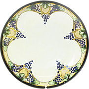"Hand Painted ""J & C Bavarian"" Decorative Plate, Arts and Crafts Design, Ca. 1898-1923"